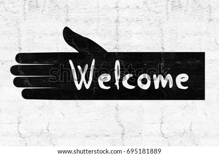 Welcome Symbol Stock Illustration 695181889 Shutterstock