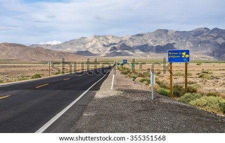 Welcome to california road sign with the beautiful scenery - stock photo