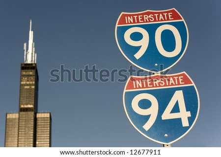 Welcome to Chicago - stock photo