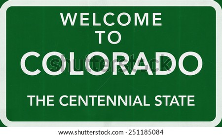 Welcome to Colorado USA Road Sign - stock photo