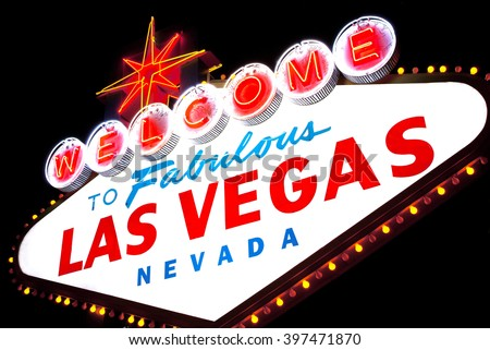 Welcome to fabulous Las vegas Nevada sign - stock photo
