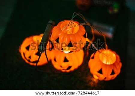 Welcome to halloween festival with pumpkin yellow have warm feeling.