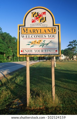 Welcome to Maryland Sign