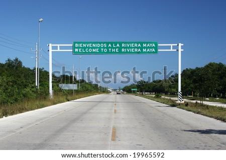 welcome to Riviera Maya - stock photo
