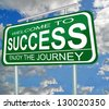 welcome to success enjoy the journey sky clouds - stock photo