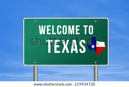 Welcome to Texas - stock photo