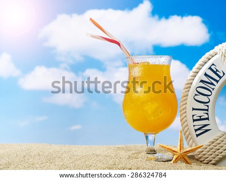 Welcome to the beach - stock photo