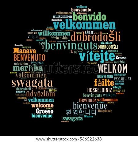 Welcome Word Cloud in different Languagges