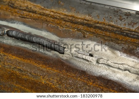 Weld, splice, weldseam - stock photo