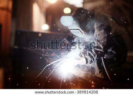 welder worker profession - stock photo
