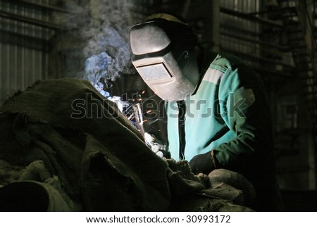 welding of metal - stock photo