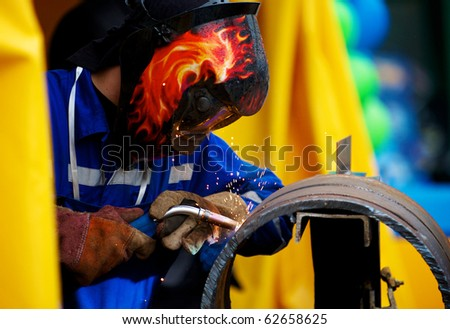 Welding pipe for a pipe stand - stock photo