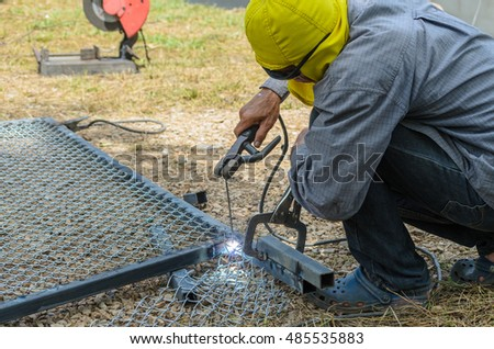 Welding steel structure maintenance.