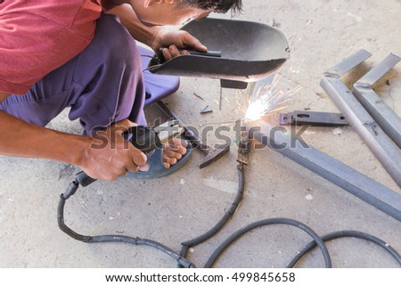 Welding steel with electricity