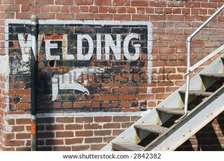 Welding This Way - stock photo