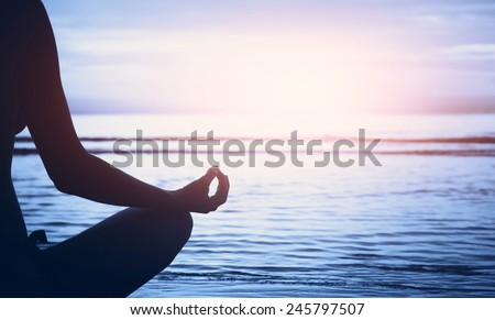 well being concept, yoga background