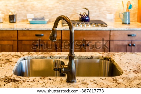 Granite stock photos royalty free images vectors for Well decorated kitchen
