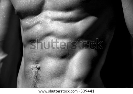 well defined naked male torso