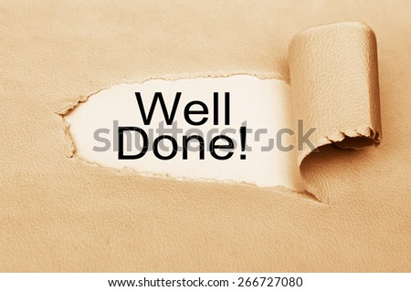 Well done! - stock photo