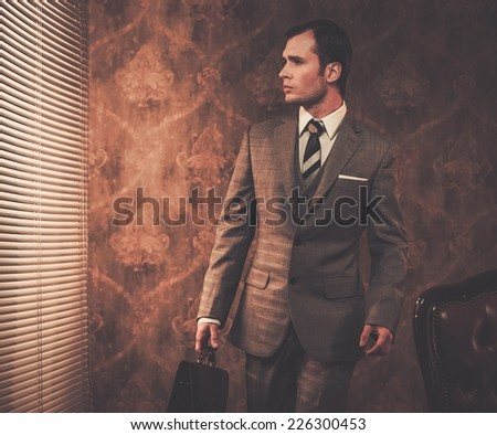 Well-dressed businessman with a briefcase