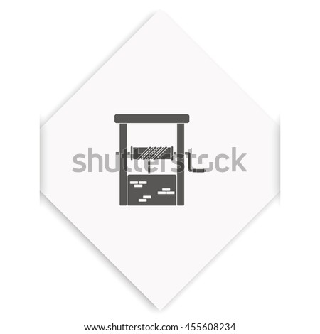 Well icon. - stock photo