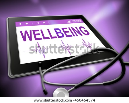 Wellbeing Tablet Indicating Preventive Medicine And Tablets
