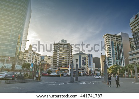 Wellington, New Zealand - March 3, 2016: Cityscape of Wellington, capital city of New Zealand, located on north island