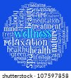 Wellness concept  in word collage - stock photo