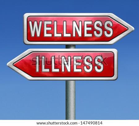 wellness or illness good or bad health - stock photo