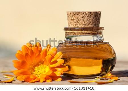 Wellness with calendula - stock photo