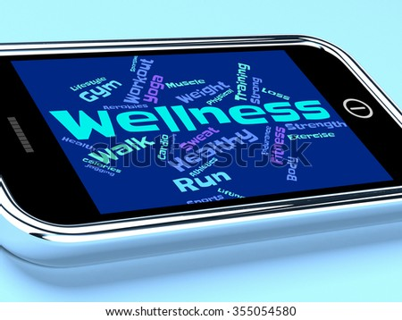 Wellness Words Representing Preventive Medicine And Medical  - stock photo