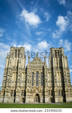 Wells cathedral - stock photo