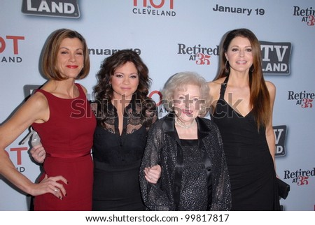 "Wendy Malick, Valerie Bertinelli, Betty White, Janes Leeves at the ""Hot In Cleveland""/""Retired at 35"" Premiere Party, Sunset Tower, West Hollywood, CA. 01-10-11"