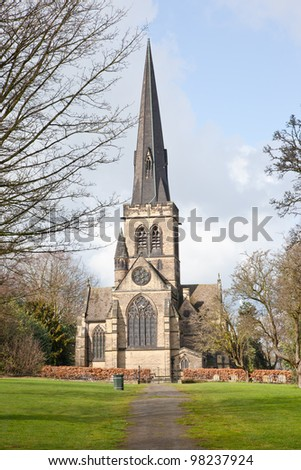 Wentworth Church in Spring - stock photo