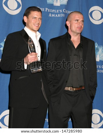 Wentworth Miller Dominic Purcell 32nd People's Choice Awards Shrine Auditorium Los Angeles, CA January 10, 2006