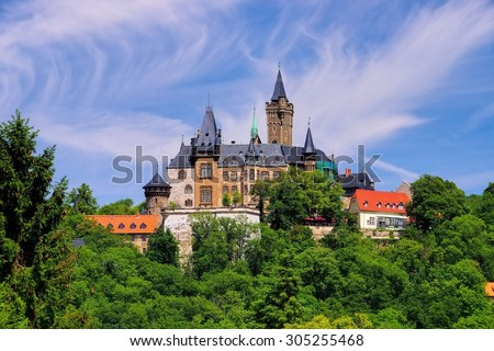 Wernigerode castle  - stock photo