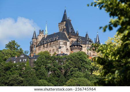 Wernigerode castle in Germany
