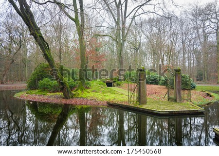 Wesselman grave in Helmond in the Netherlands on a winter day