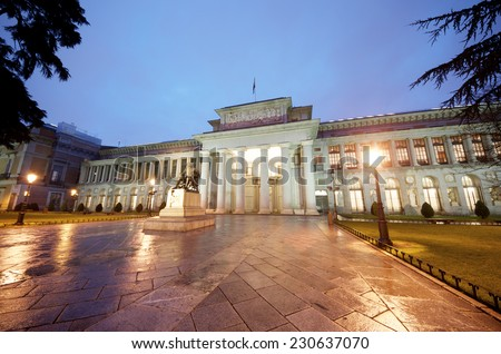 west access in the Prado Museum, Madrid, Spain - stock photo