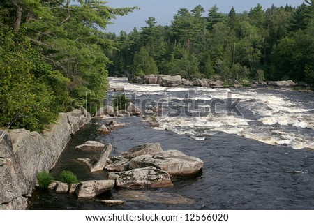 West Branch, whitewater on the west branch of the Penobscot River in northern Maine