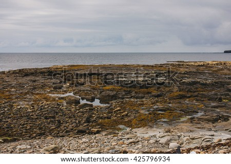 West coast of Ireland, covered by limestone.  - stock photo