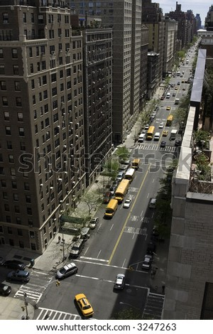 West End Avenue, South, Manhattan, New York - stock photo