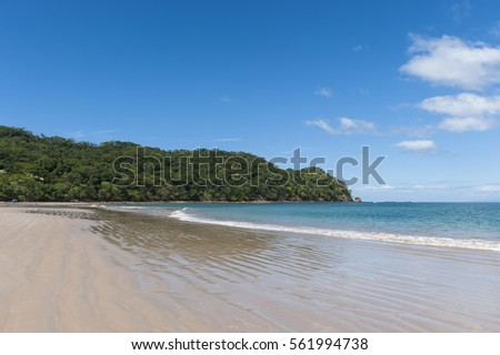 West facing beach landscape of Playa Conchal, Guanacaste, Costa Rica