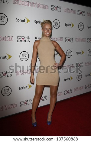 WEST HOLLYWOOD - AUG 28: CariDee English at the 4th annual Icons & Idols party at the Sunset Tower Hotel in West Hollywood, California on August 28, 2011