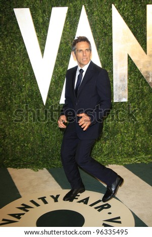WEST HOLLYWOOD, CA - FEB 26: Ben Stiller at the Vanity Fair Oscar Party at Sunset Tower on February 26, 2012 in West Hollywood, California.