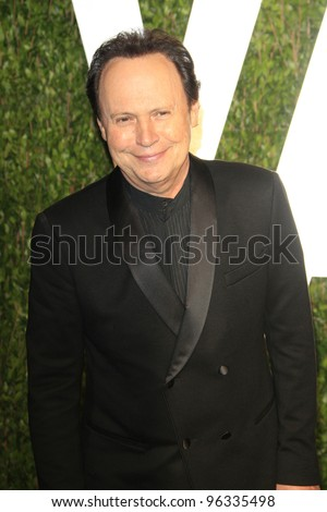 WEST HOLLYWOOD, CA - FEB 26: Billy Crystal at the Vanity Fair Oscar Party at Sunset Tower on February 26, 2012 in West Hollywood, California.
