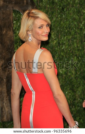 WEST HOLLYWOOD, CA - FEB 26: Cameron Diaz at the Vanity Fair Oscar Party at Sunset Tower on February 26, 2012 in West Hollywood, California. - stock photo