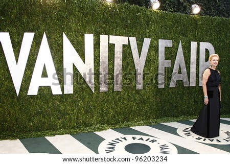 WEST HOLLYWOOD, CA - FEB 26: Carolina Herrera at the Vanity Fair Oscar Party at Sunset Tower on February 26, 2012 in West Hollywood, California. - stock photo