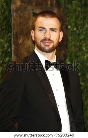 WEST HOLLYWOOD, CA - FEB 26: Chris Evans at the Vanity Fair Oscar Party at Sunset Tower on February 26, 2012 in West Hollywood, California. - stock photo