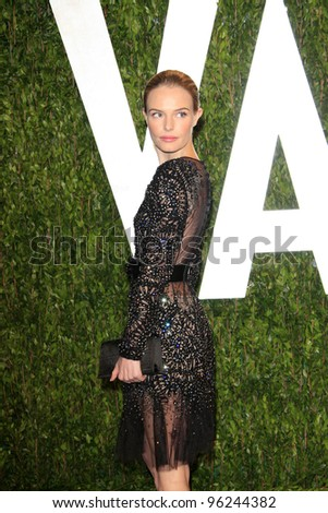 WEST HOLLYWOOD, CA - FEB 26: Kate Bosworth at the Vanity Fair Oscar Party at Sunset Tower on February 26, 2012 in West Hollywood, California. - stock photo